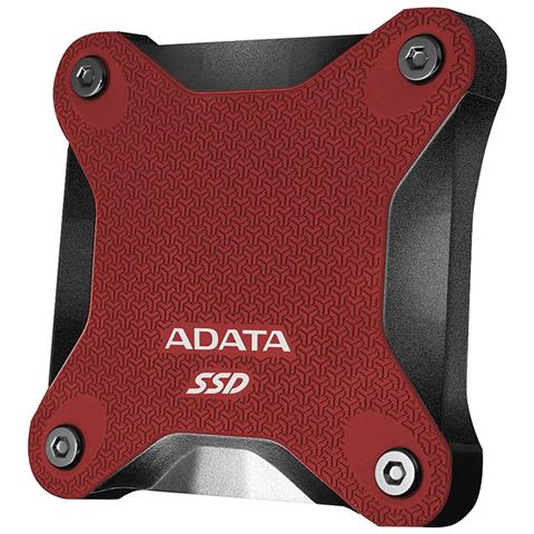 SSD Esterno 480 GB Serie SD600Q Interfaccia USB 3.0 Colore Rosso