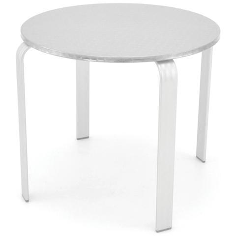 Tavolo in Alluminio 80 x 70 Colore Bianco