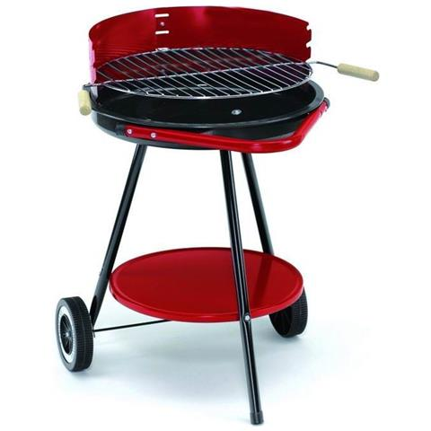Barbecue Blinky Rotondo Con Ruote Diametro 48 Griglie Leggera Trasportabile