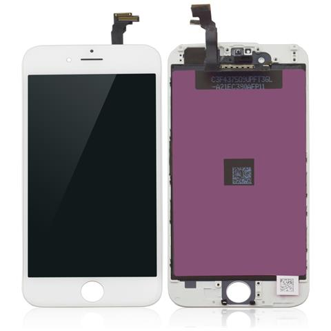 MICROSPAREPARTS MOBILE MOBX-IPO6G-LCD-W Display Bianco ricambio per cellulare