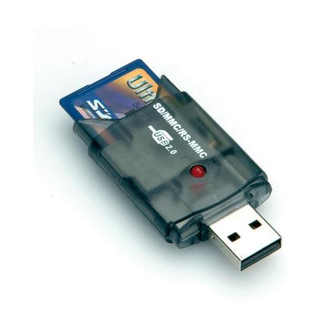 Card Reader Stick, MMC, SD, USB 2.0, 75 x 30 x 10 mm, Windows 98SE / ME / 2000 / XP / Vist...