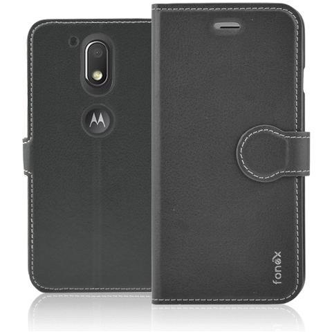 FONEX Identity Book Custodia a Libro per Motorola Moto G4 Colore Nero