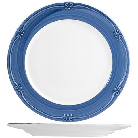H&H Piatto Ceramica Siena Blue Frutta Cm20 Stoviglie