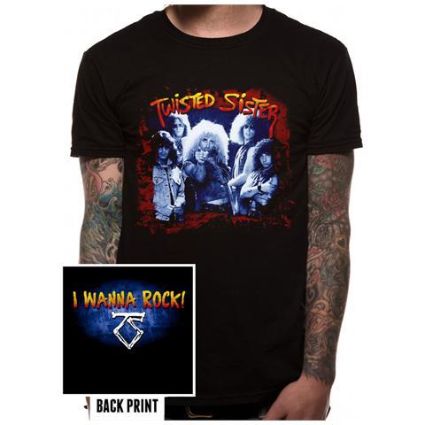 CID Twisted Sister - I Wanna Rock (T-Shirt Unisex Tg. S)