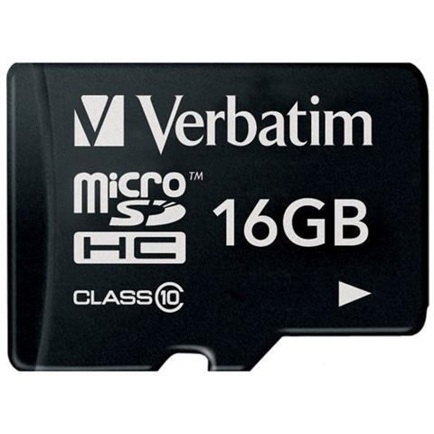VERBATIM MicroSDHC 16GB Class 10+ Adattatore