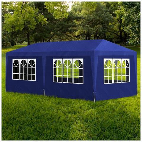 Gazebo da Giardino Tenda per Feste 3 x 6 Pannelli Blu