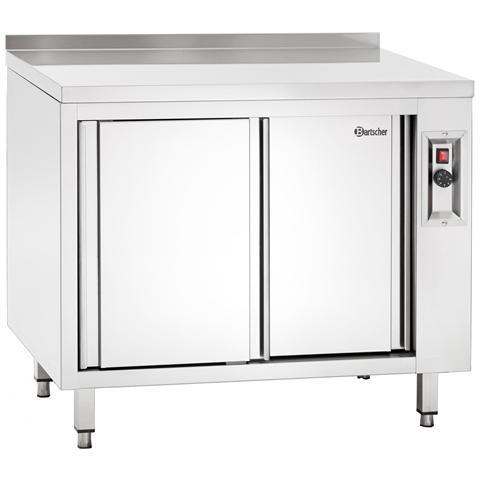 348107 Armadio in inox riscaldato con ripiano 1000x700x850-900 mm