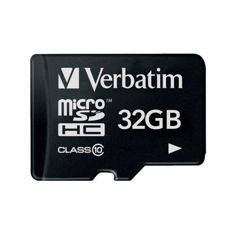 VERBATIM MicroSDCH 32GB Class 10+ Adattatore
