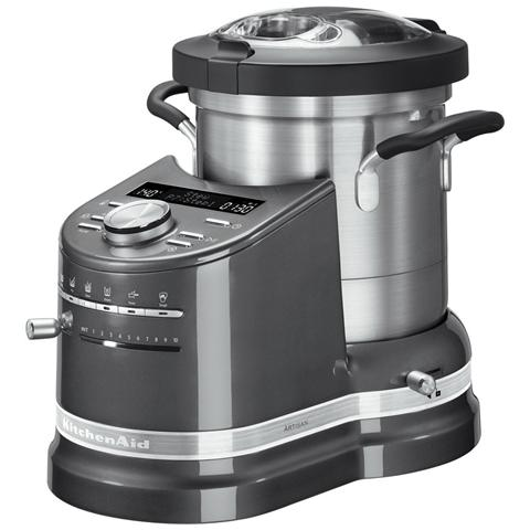 Cook Processor Artisan Robot da Cucina Potenza 1500 Watt Capacità 4.5 Litri 5KCF0103EMS Colore Argento Medaglia