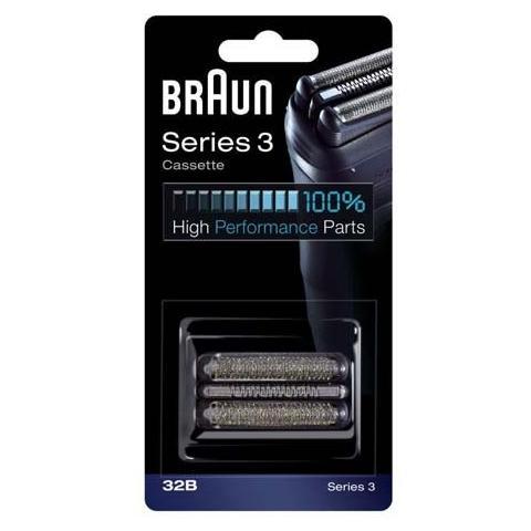 BRAUN COMBI32B Cassette Serie 3 Colore Nero