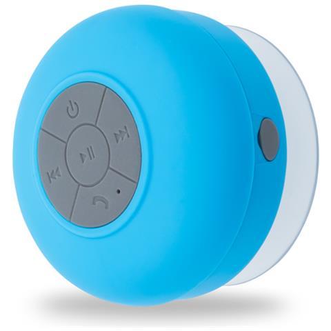 FOREVER Speaker Portatile con Bluetooth Impermeabile Colore Azzurro