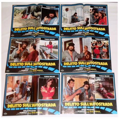 Vendilosubito Foto Busta Originale Del Film Delitto Sull' Autostrada Con Tomas Milian 1982