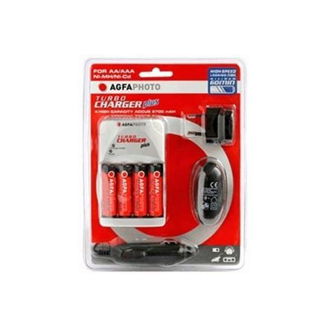 AGFAPHOTO 70110 Caricabatterie Plus con 2 Batterie Incluse 2700 mAh