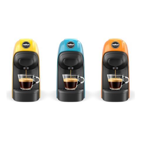 Macchina da Caffè Espresso Semi Automatica Lavazza A Modo Mio Serbatoio 0.75 Lt. Potenza 1450 Watt Colore Nero / Blu