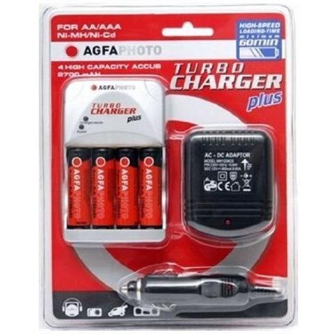 AGFAPHOTO 70111 Turbo Caricatore Incluse 4 batterie 2700 mAh
