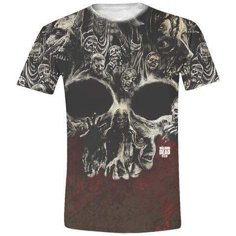 IMPORT Walking Dead - Walkers Skull Full Printed (T-Shirt Unisex Tg. L)