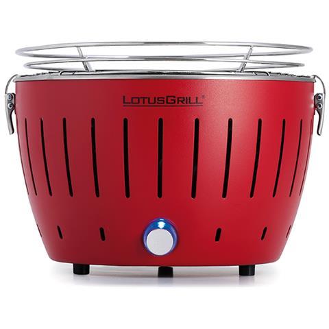 Barbecue Nuovo Modello 2019 Mini Ø 25,8 cm Rosso con Batterie e Cavo di Alimentazione USB