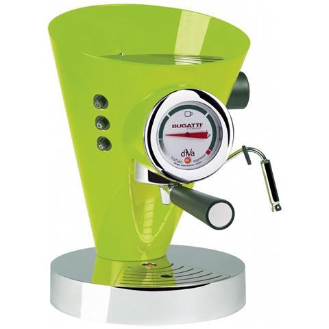 Macchina Caffé Espresso Manuale Diva Capacità Serbatoio 0,8 Litri Potenza 950 Watt Colore Verde Mela
