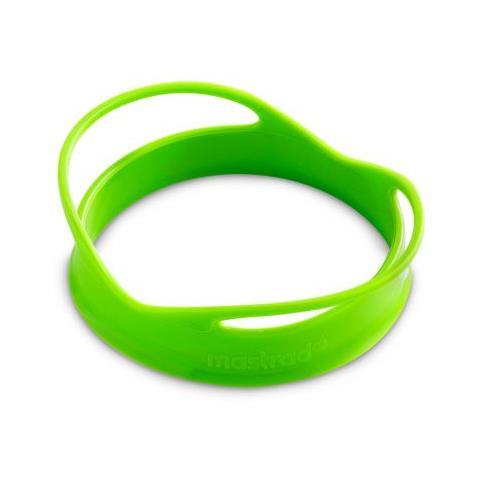 Set di stampi per uova a forma di cerchio colore verde a 2 pezzi in silicone