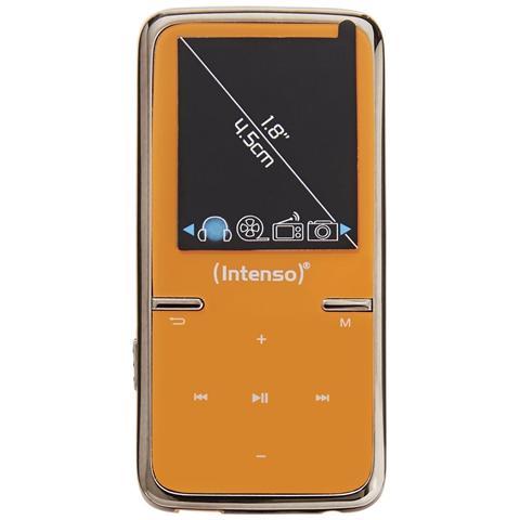 Intenso Video Scooter 8GB, MP3, Arancione, Flash-media, 8 GB, MicroSD (TransFlash) , LCD