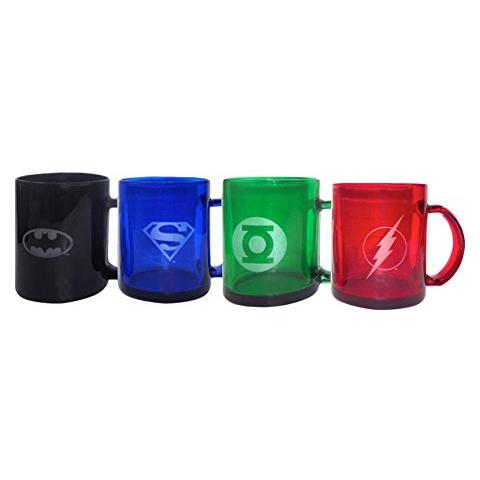 Dc Universe Translucent 4-pack Mugs Tazza
