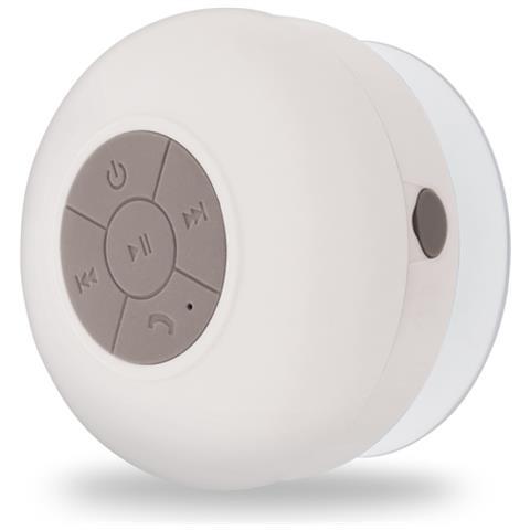FOREVER Speaker Portatile con Bluetooth Impermeabile Colore Bianco