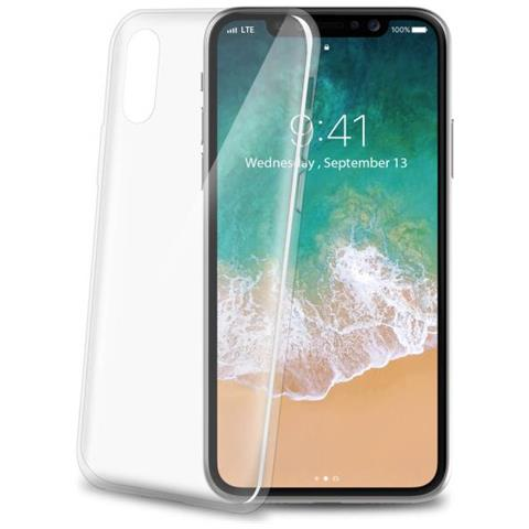 CELLY Cover in Gomma per Iphone X Colore Trasparente