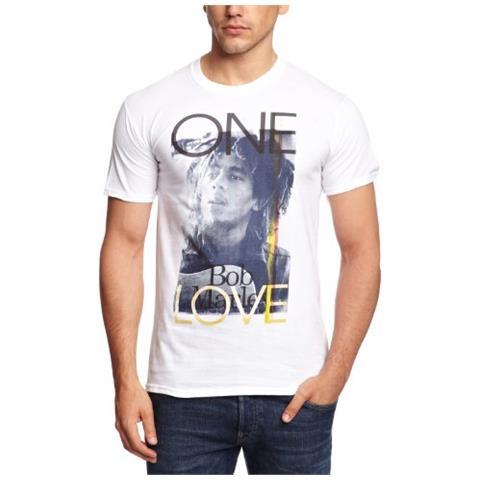 ROCK OFF Bob Marley - Catch A Fire - One Love (T-Shirt Unisex Tg. S)