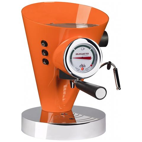Macchina Caffé Espresso Manuale Diva Capacità Serbatoio 0,8 Litri Potenza 950 Watt Colore Arancione