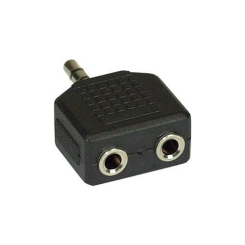 INLINE 99301 3.5mm 2x 3.5mm Nero cavo di interfaccia e adattatore