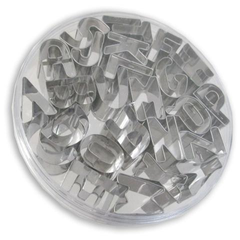 Tagliabiscotti alfabeto - set 26 pezzi