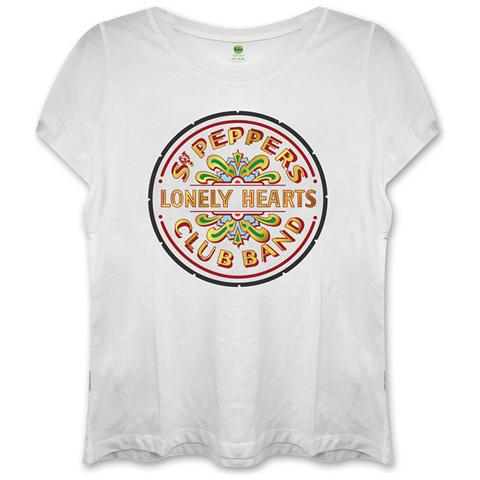 ROCK OFF Beatles (The) - Sgt Pepper White (T-Shirt Donna Tg. M)