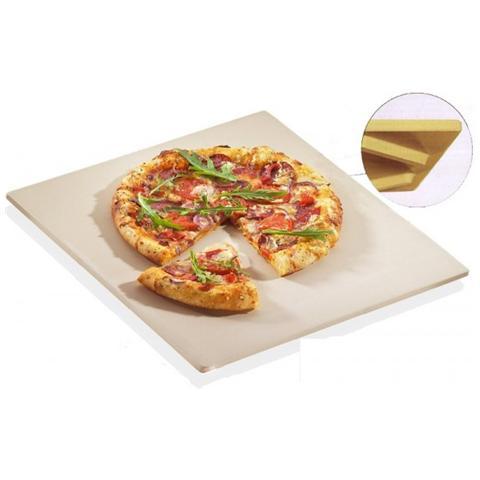 Piastra Pietra Refrattaria Con Piedini Da Forno Per Pizza 35x40 Cm Kuchenprofi