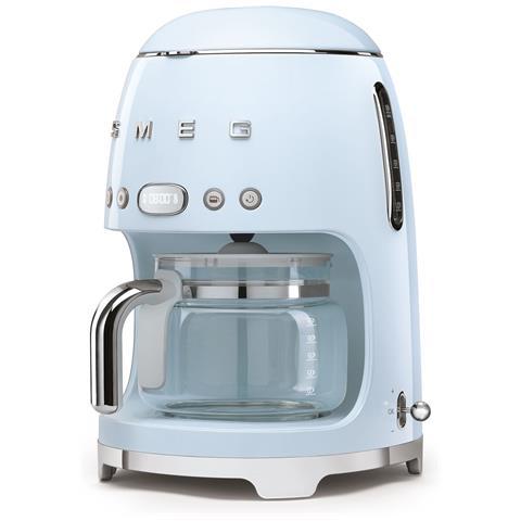 Macchina Caffè Americano DCF02PBEU 10 Tazze Linea Anni '50 Potenza 1050 Watt Colore Azzurro Pastello