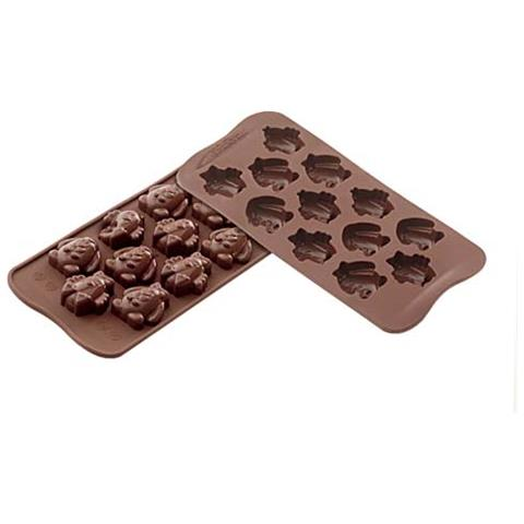 Silikomart Stampo cioccolato easter frien easy choc 35x30mm h. 16mm 112.5ml
