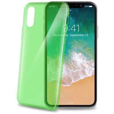 CELLY Cover in Gomma per Iphone X Colore Verde Chiaro