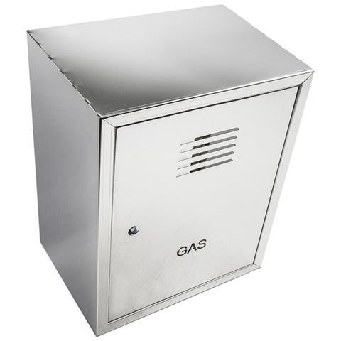 Cassetta cassonetto contenitore inox per contatore gas, misura h 45 x l 35 x p 25cm