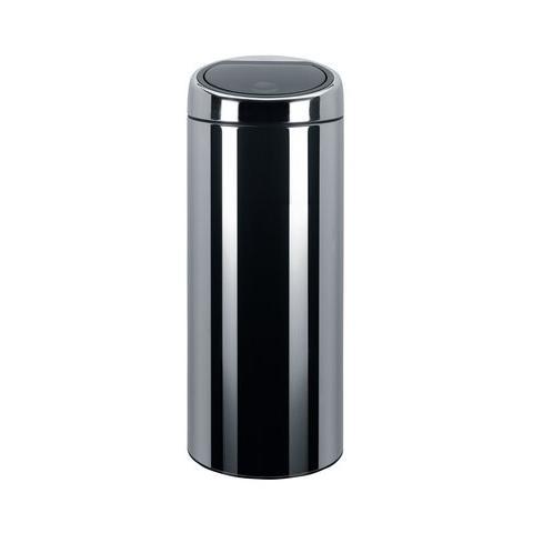 BRABANTIA Pattumiera Touch Bin Brabantia - Con secchio int metallo - Ø 30x52cm - 20 l - inox lucido - 415920