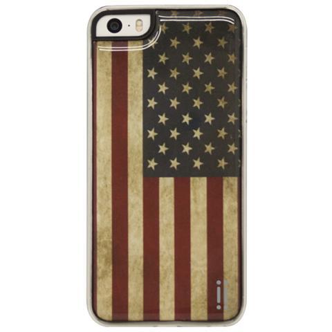 AIINO Gel Sticker Case per iPhone 5/5s e iPhone SE - Flag USA