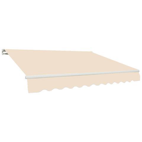 Tenda Da Sole Barra Quadra 200x300 Cm Tessuto In Poliestere Beige Unito