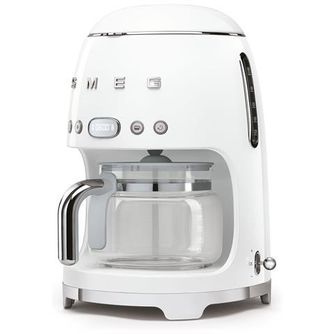 Macchina Caffè Americano DCF02WHEU 10 Tazze Linea Anni '50 Potenza 1050 Watt Colore Bianco