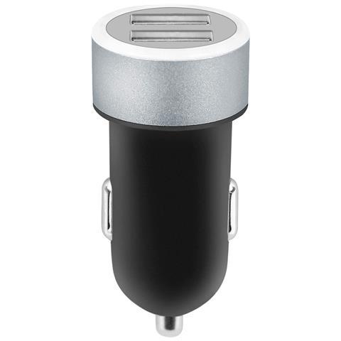 FONTASTIC IUSB2-CAR3-2A2P - Caricatore da Auto 2 USB con uscita 2,4A Nero