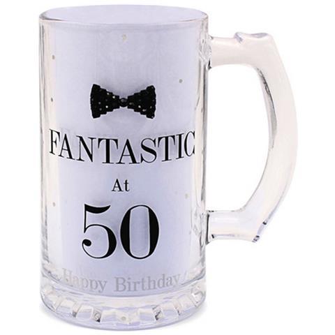 Lesser Pavey Boccale Da Birra A Pois Per Compleanno (scritte In Inglese) (taglia Unica) (fantastic At 50)
