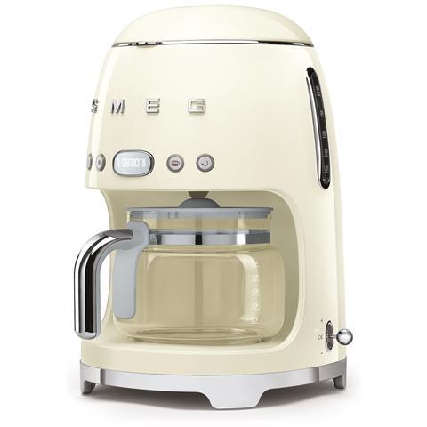 Macchina Caffè Americano DCF02CREU 10 Tazze Linea Anni '50 Potenza 1050 Watt Colore Panna