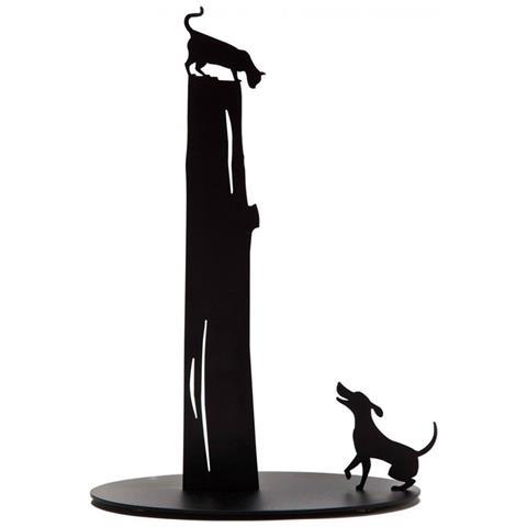 Artori Design Porta Rotolo Scottex Dog Vs Cat - Nero -ad161