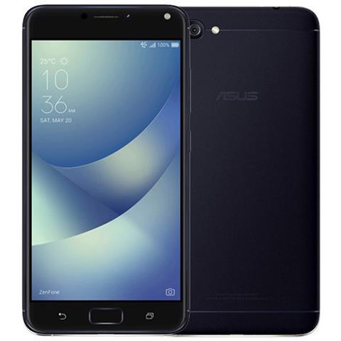 """ASUS Zenfone 4 Max Nero 32 GB 4G / LTE Dual Sim Display 5.5"""" HD Slot Micro SD Fotocamera 13 Mpx Android Italia"""