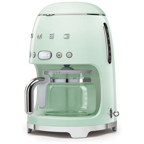 Macchina Caffè Americano DCF02PGEU 10 Tazze Linea Anni '50 Potenza 1050 Watt Colore Verde Pastello