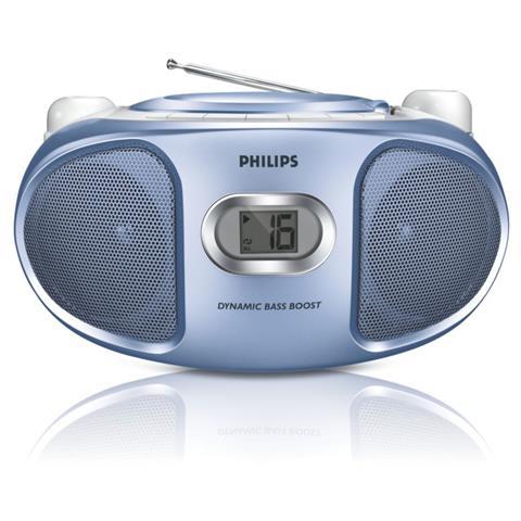 Philips AZ105N / 12, CD, CD-R, CD-RW, 2x 1W, FM, 3,5 mm