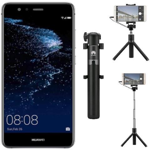P10 Lite Nero 32 GB 4G / LTE Display 5.2'' Full HD Slot Micro SD Fotocamera 12 Mpx Android Tim Italia + Selfie Stick Tripod AF14