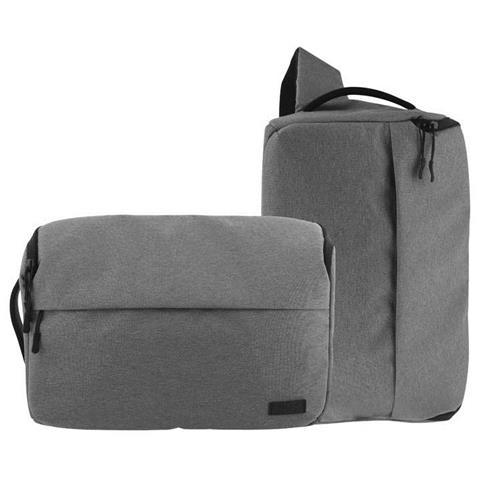 Photo bag 2 in 1, Marsupio, Universale, Grigio, Tela